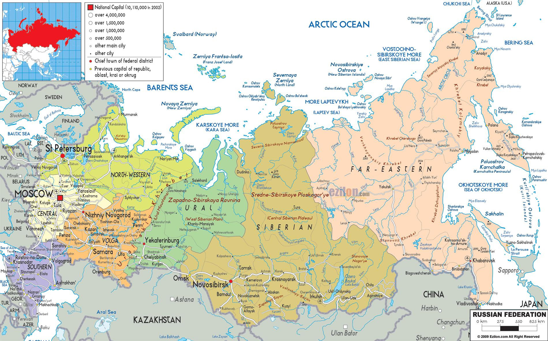 North Russia map Map of north Russia Eastern Europe Europe