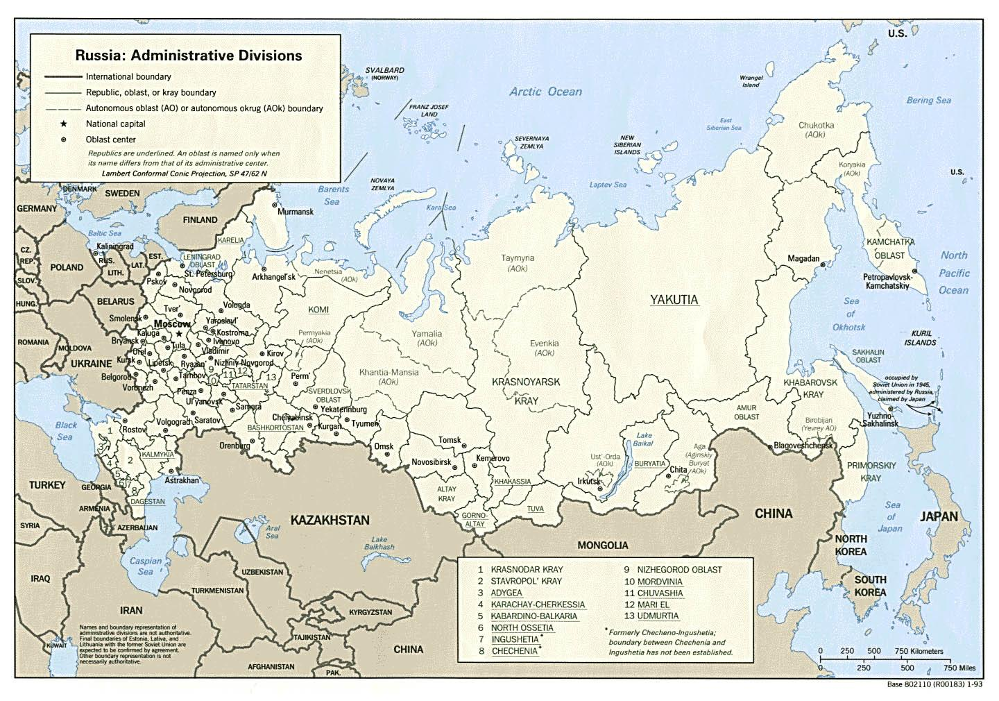 Russia cities map Cities in Russia map Eastern Europe Europe