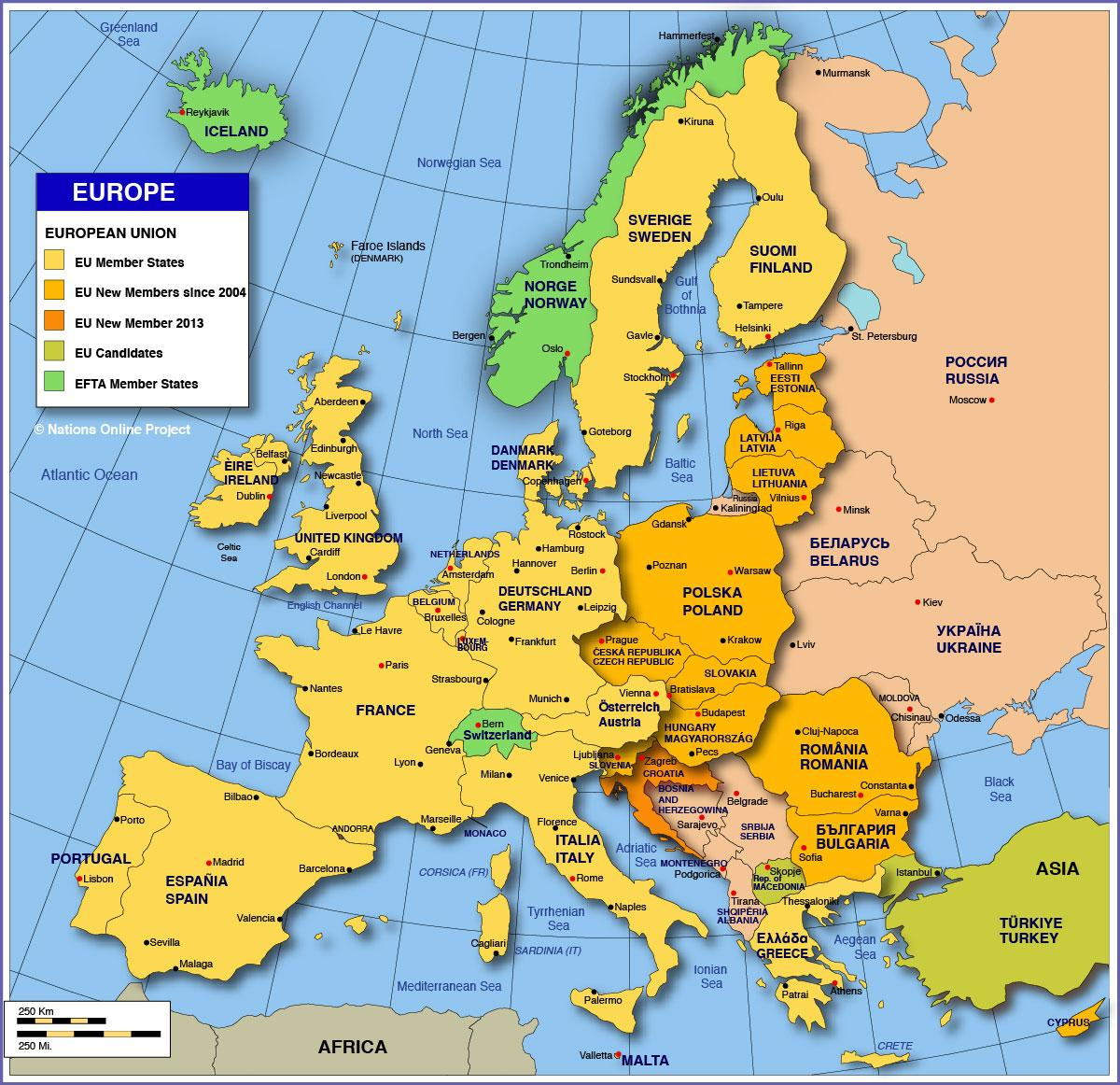 map russia europe