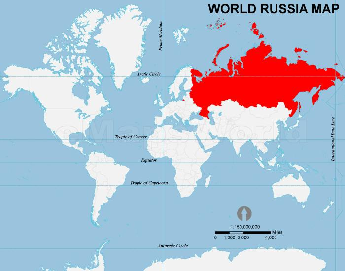 Russia Map World Russia In The World Map Eastern Europe Europe