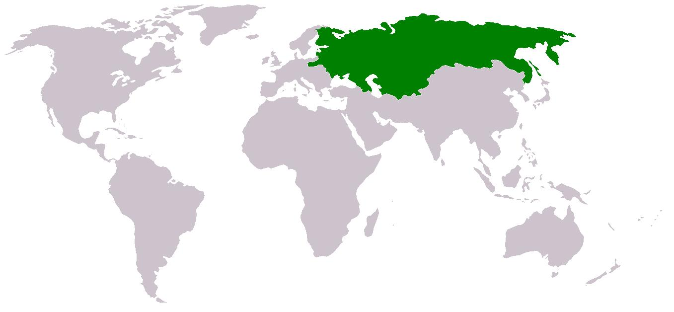 Russia on world map - Russia on a world map (Eastern Europe ...