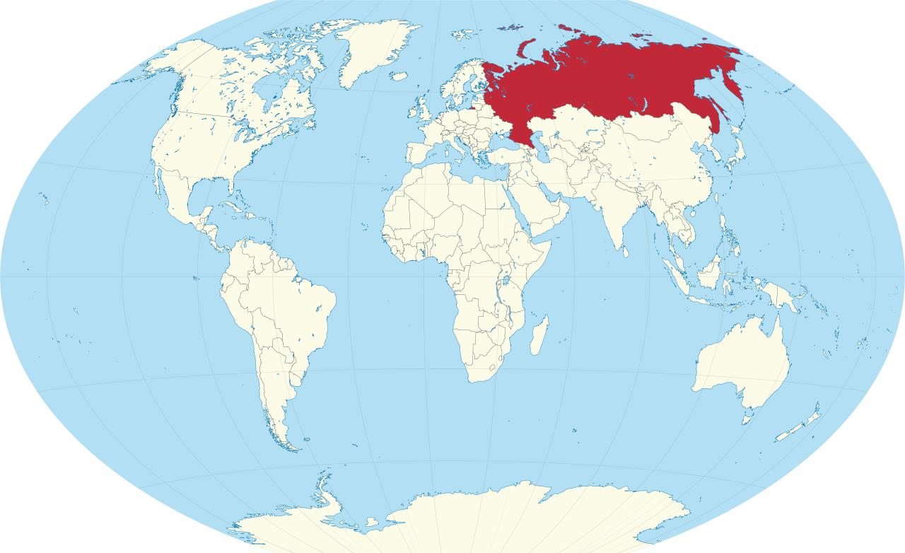 World map russia russia on map of world eastern europe europe russia on map of world gumiabroncs Images