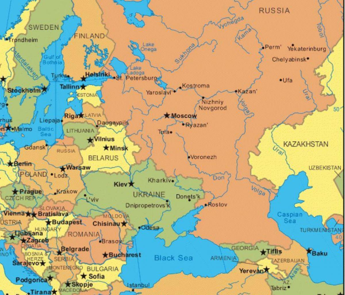 Map of Russia and eastern europe - Map eastern europe and Russia ...