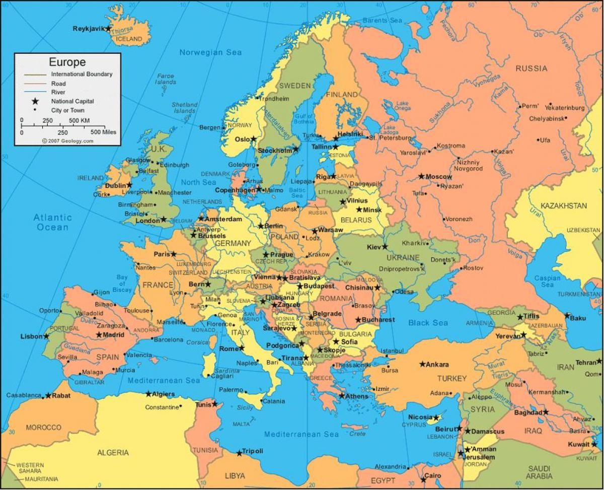 Map of Russia and europe - Russia map europe (Eastern Europe ...
