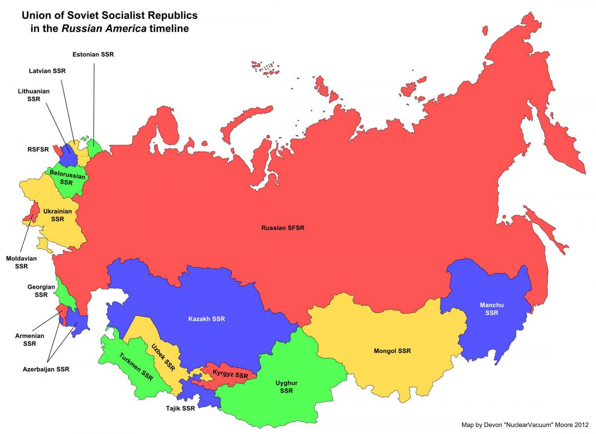 Soviet union on map