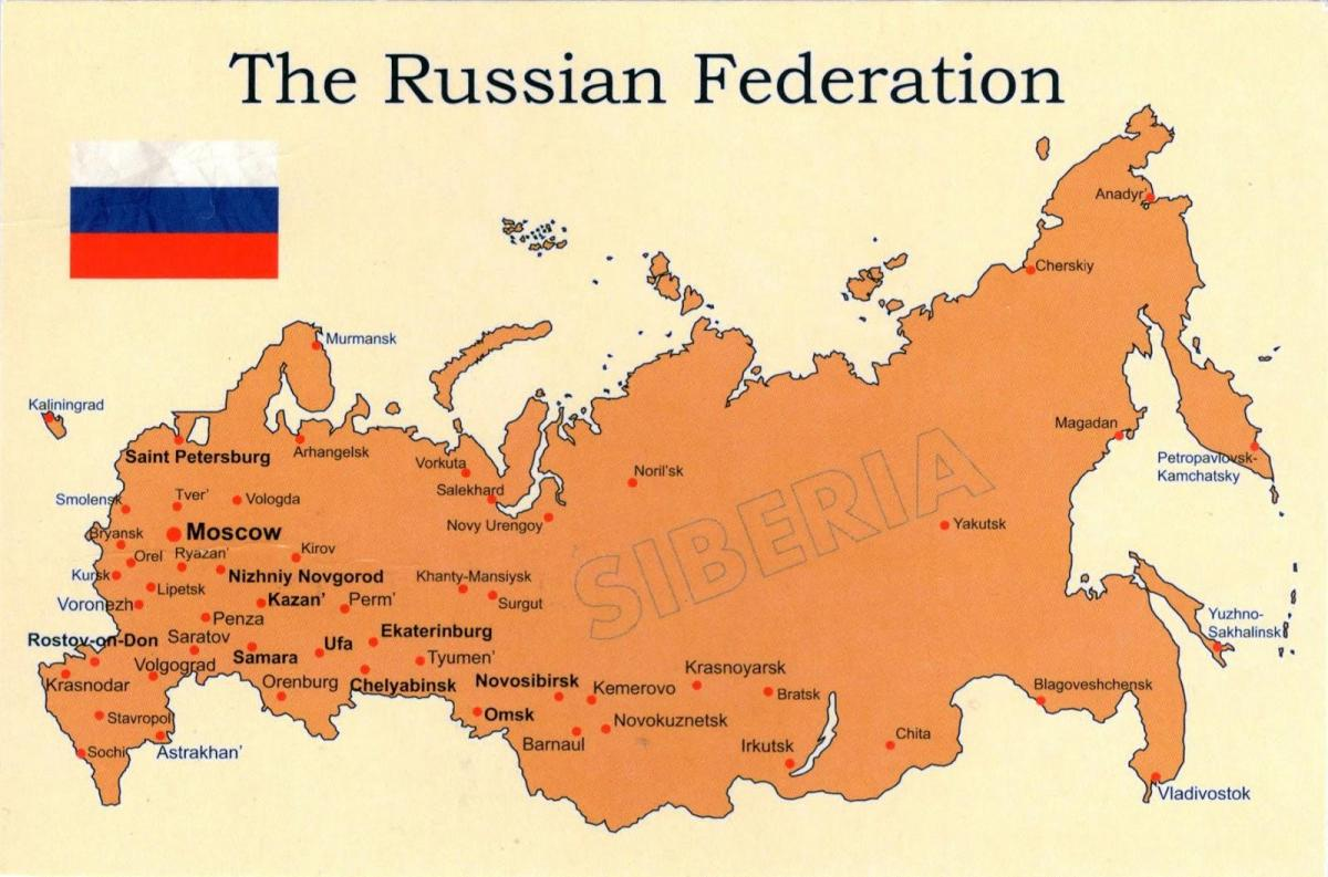 Russia in map