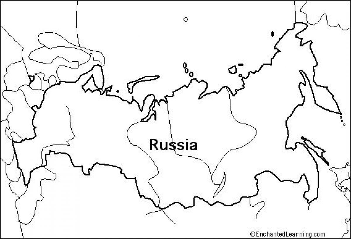 Outline Map Russia Outline Map Of Russia Eastern Europe Europe