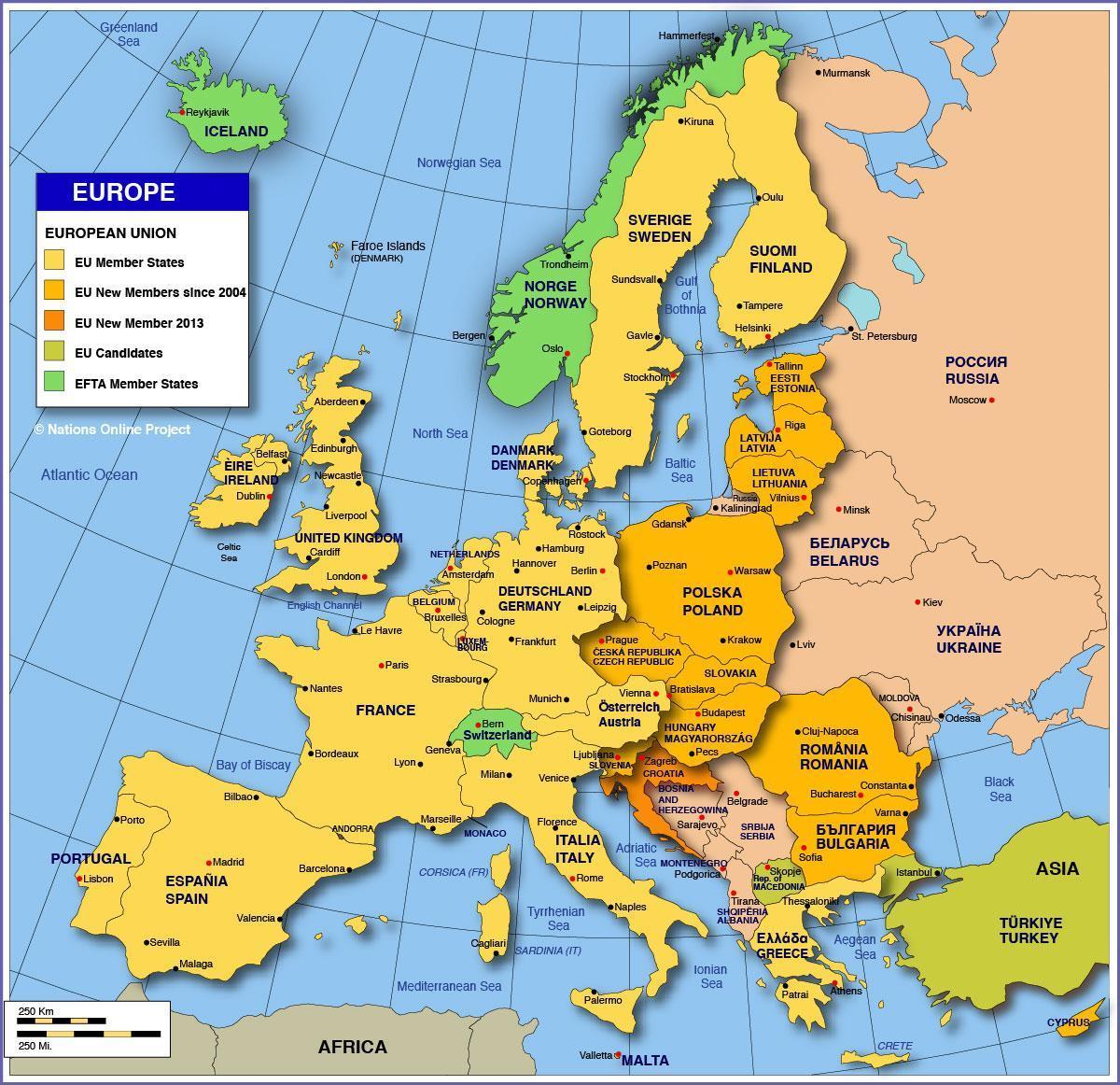 Russia europe map Map Russia europe Eastern Europe Europe