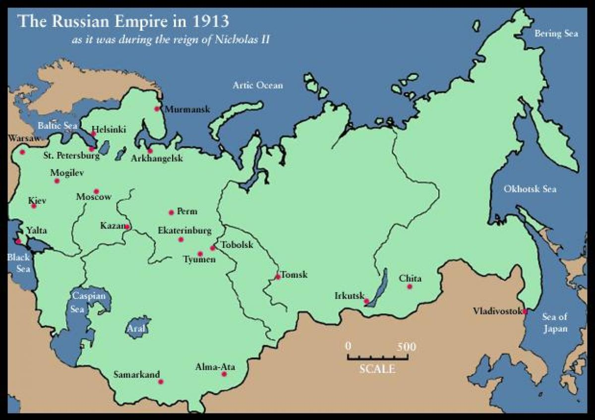 Russia Map 1900 Map Of Russia 1900 Eastern Europe Europe