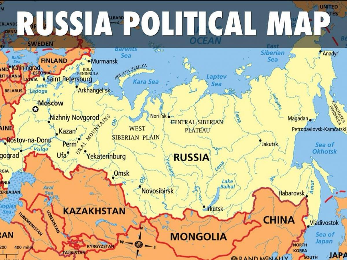 Russia map countries - Map of Russia countries (Eastern ...