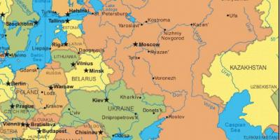 Map Russia Russia In Map Eastern Europe Europe - Russia and eastern europe map quiz