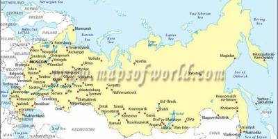 Map of Russia and cities