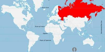 Russia in the world map