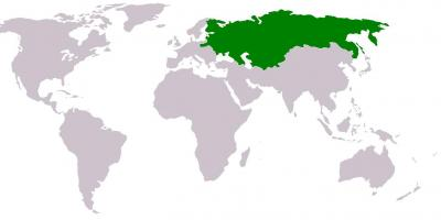 Russia on a world map