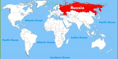 World map of Russia